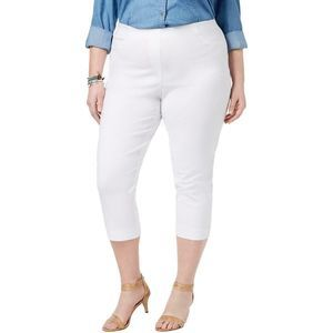 Style & Co White Mid Rise Comfort Waist Capris 22W